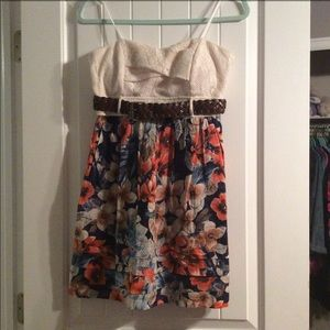 Floral Strapless Dress size 7